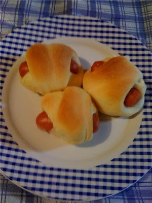 Pão com salsicha
