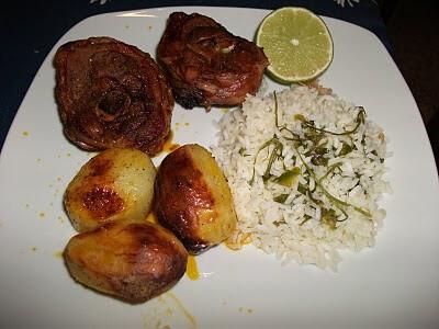 Ossobuco de Perú no forno