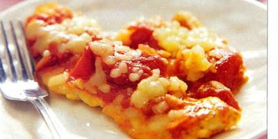 Pechugas ahogadas en tomate y mozzarella