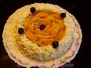 kuchen de durazno con crema pastelera facil