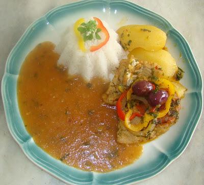pirão de merluza