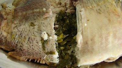 Pacú Assado Recheado Com Couve Manteiga