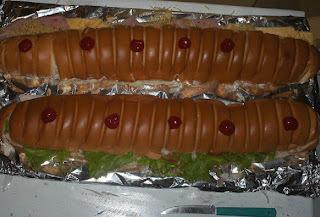 sanduiche no palito festa