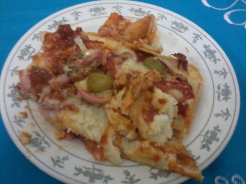 Torta Pizza de Queijo e Presunto