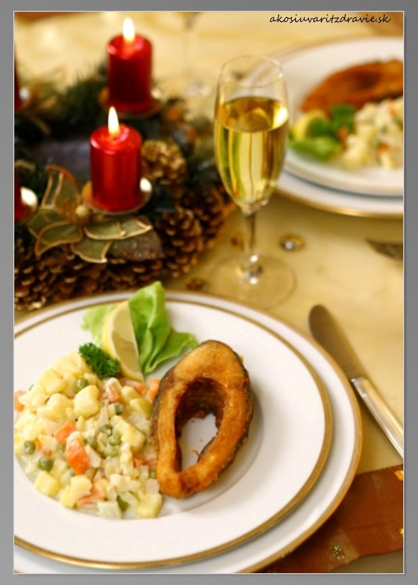 Ľahký zemiakový šalát a kapor