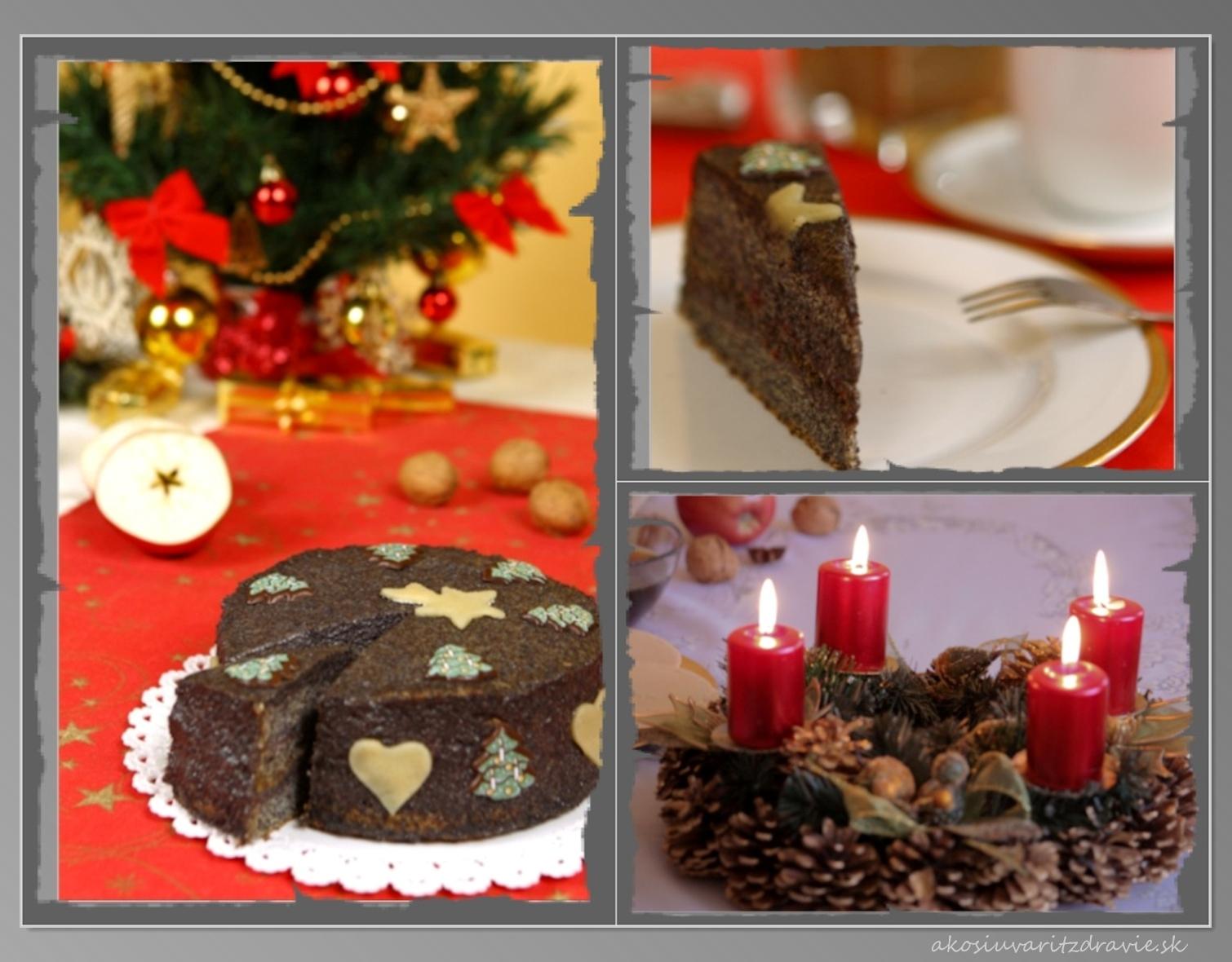 Opojný vianočný dezert – makovo-maková torta