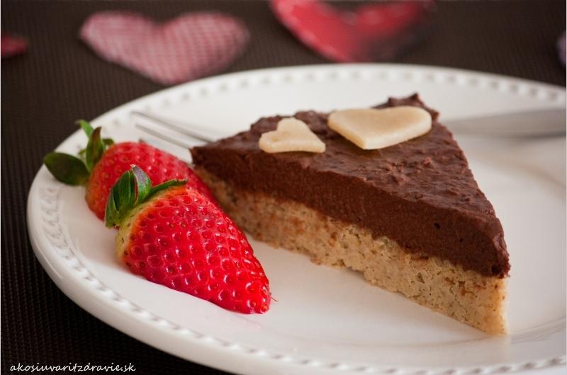 Pšenová torta s čokoládovým krémom.