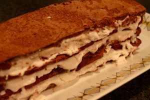 Sjokoladelasagne med kokossorbet