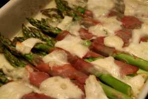 Gratinerte asparges