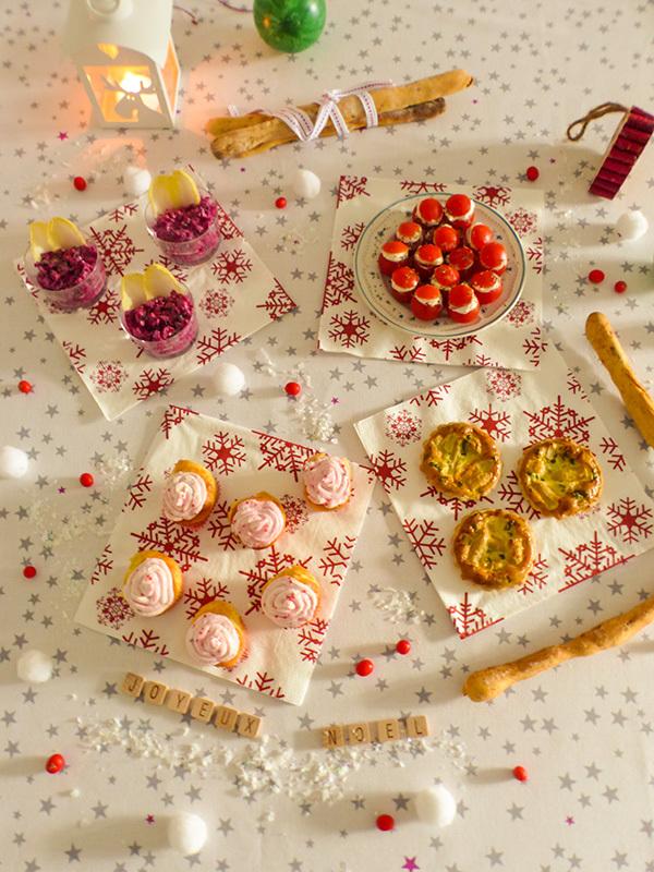 Le menu de Noël d'Amande et Basilic