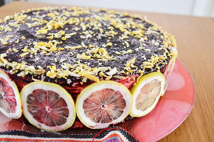 Entremet Citrons et myrtilles