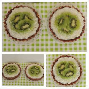 Kokosové tartaletky s kiwi