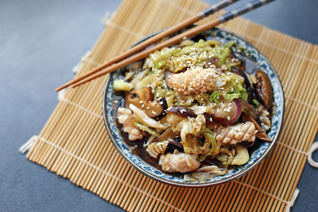 Cabbage and Squid Stir Fry