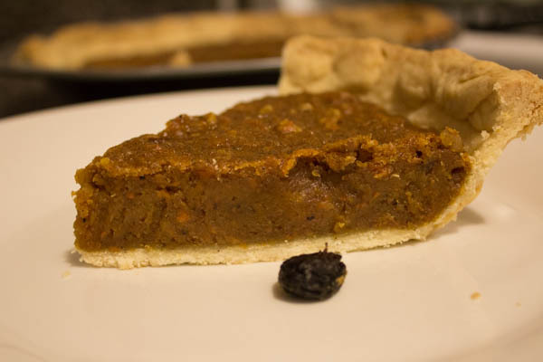 vegan carrot cake pie