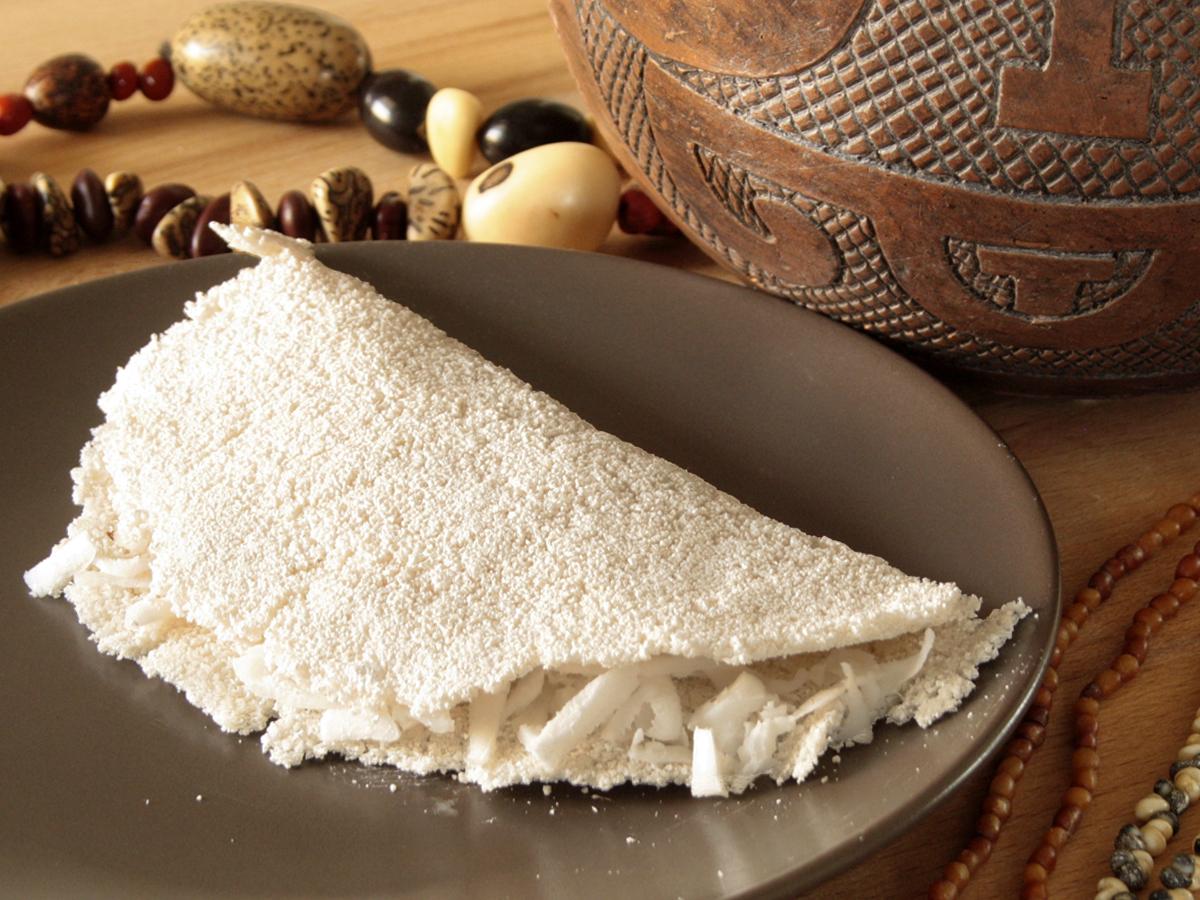 Beiju de tapioca (Crespella di tapioca)