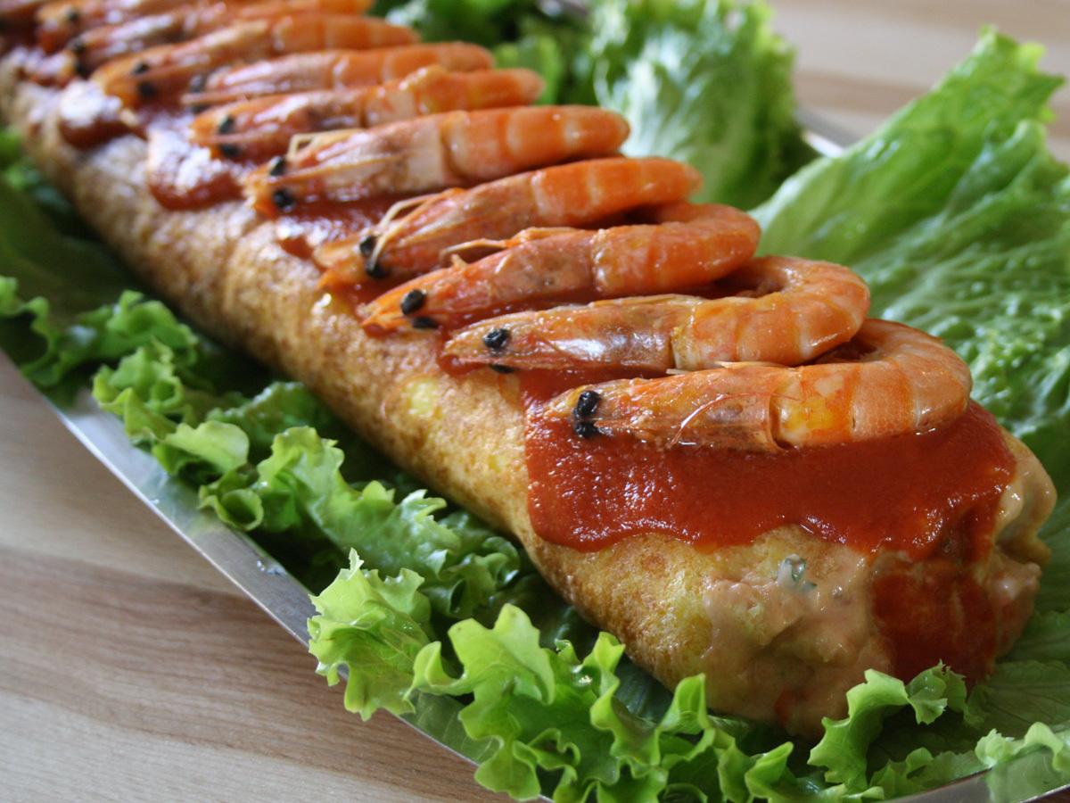 Rotolo di gamberetti (Rocambole de camarão)