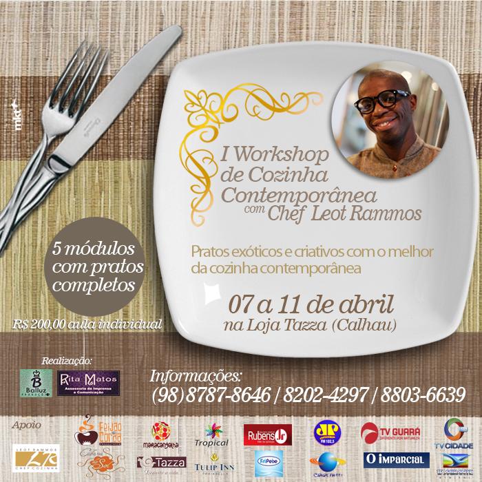Workshop de Cozinha Contemporânea com o Chef Leot Rammos