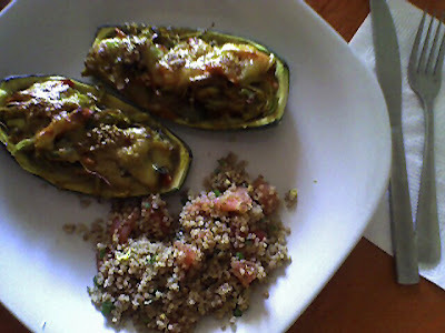 Menú del día: Zapallo italiano gratinado c/ tabule de quinoa