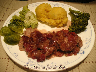 Filet de porc à la Cannelle et aux Canneberges