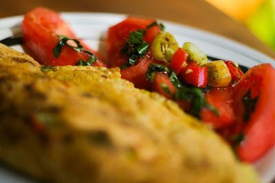 Menu del dia: Omelet de cebolla y pimenton