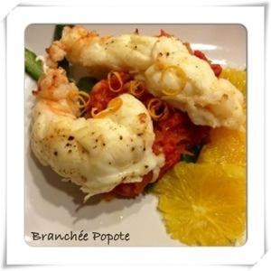Sous les Caraïbes, Langouste et Compotée de tomate à l'orange { Repas de fêtes}