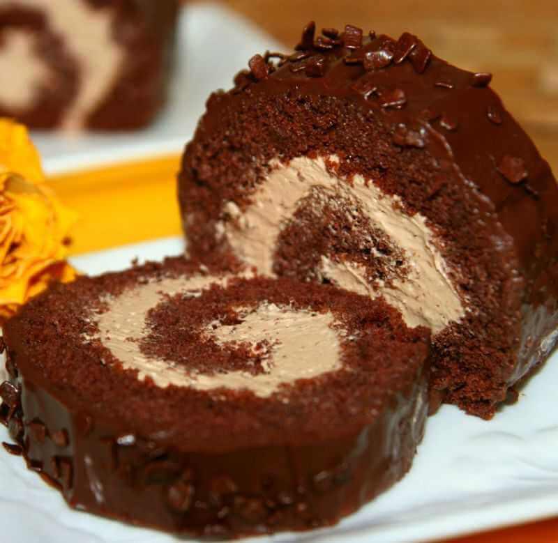 rolat od čokolade