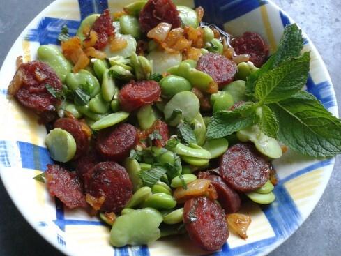 Salade de fèves au chorizo