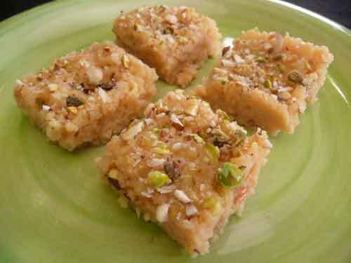 Quick Kalakand – Indian Milk Burfi Recipe