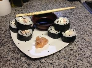 Sushi de kanikama y queso crema