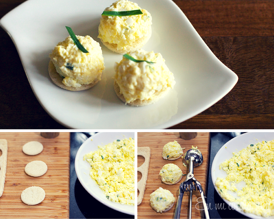 Pasta para canapés: palmito y huevo