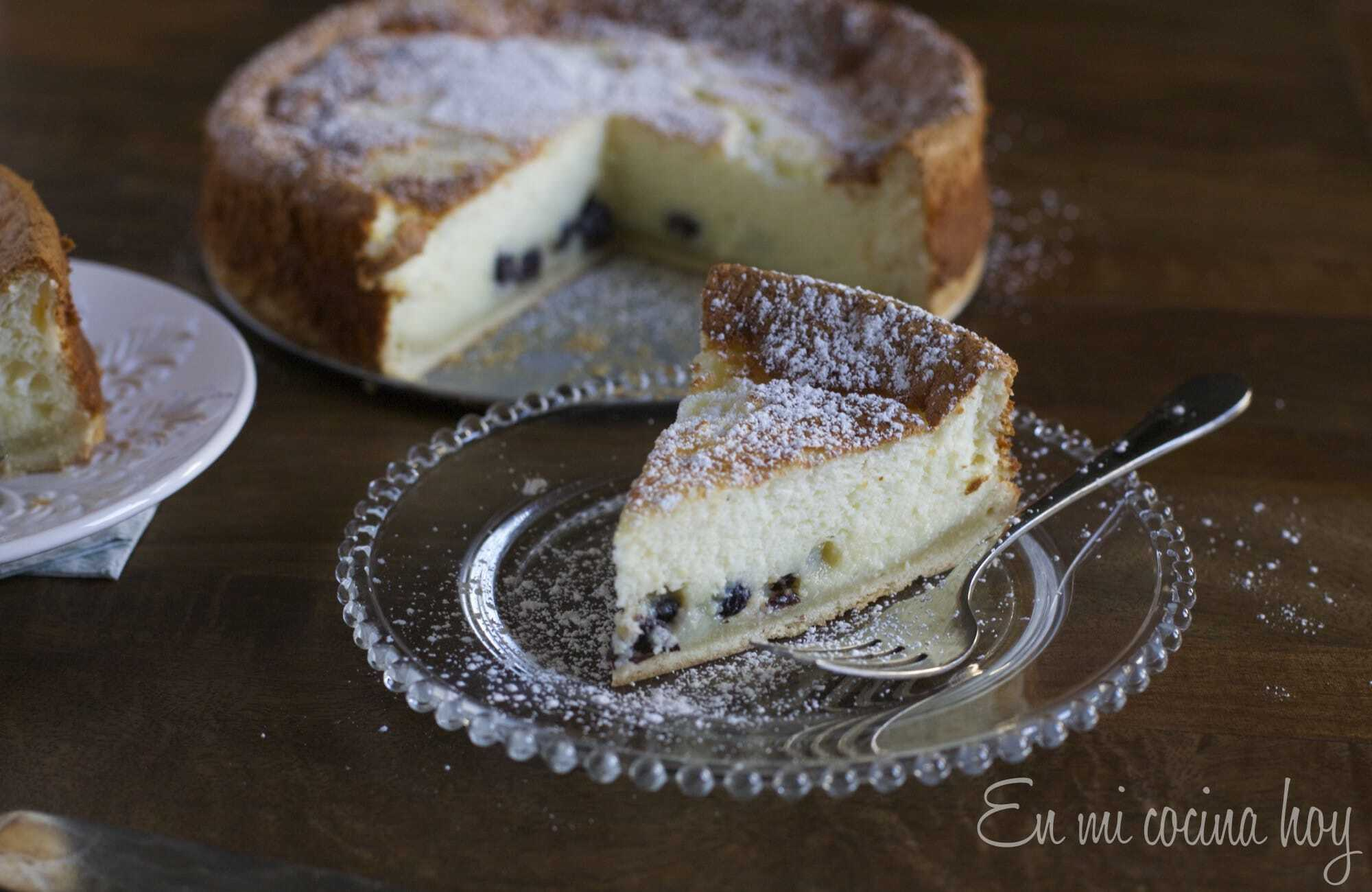 Kuchen de quesillo, receta chilena