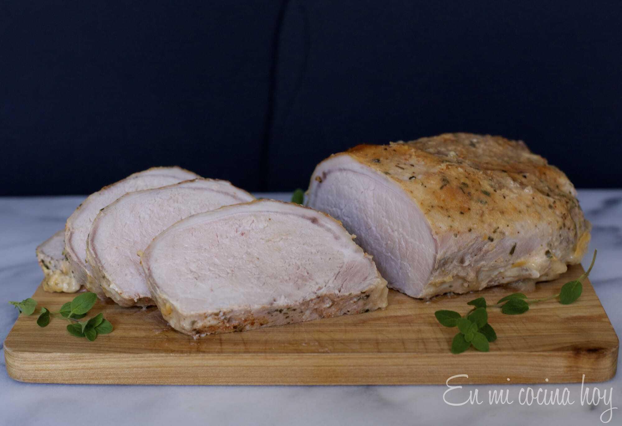 Lomo de cerdo al horno, receta chilena