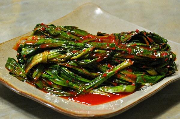 초간단, 건강지키미 삼채김치(삼채잎김치)