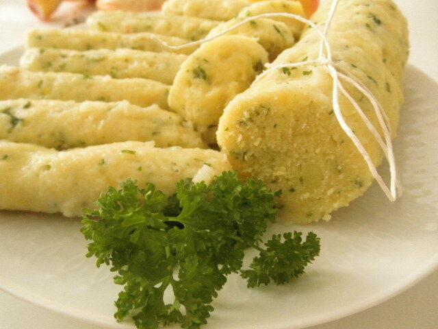 zemiakové knedle k údenému mäsu