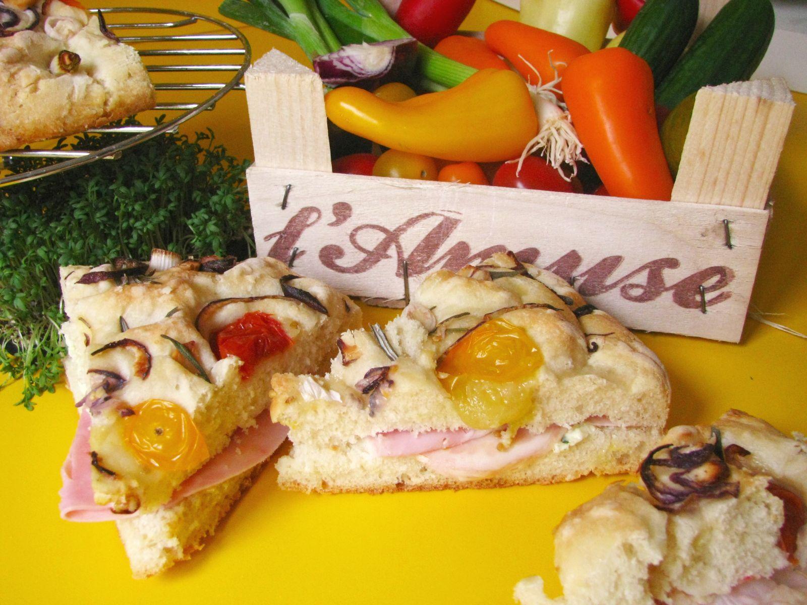 Taliansky obložený chlieb – focaccia zo zemiakoveho cesta