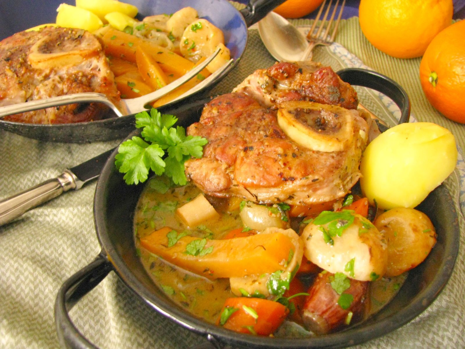 Pečené mäso s kvakou
