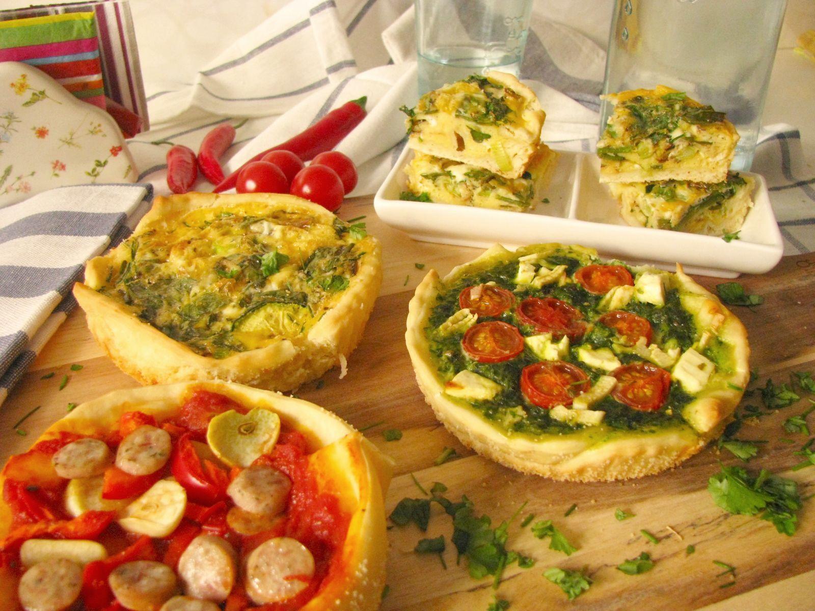 Slané koláče z pizza cesta – špenátový a vaječný (frittata)