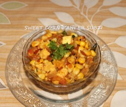 Sweet corn and paneer sabzi