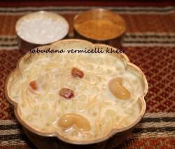 Sabudana seviyan kheer or Sago pearls vermicelli kheer