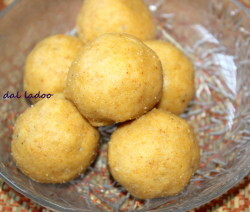 Yellow moong dal ladoo recipe