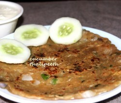 Cucumber thalipeeth or cucumber pancake recipe
