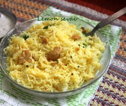Lemon sevai recipe (lemon idiyappam)