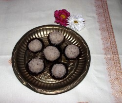 Coconut ladoo or laddu recipe