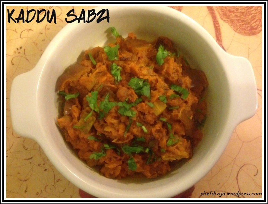 Khatta Meetha Kaddu (Sweet & Sour Pumpkin Curry)
