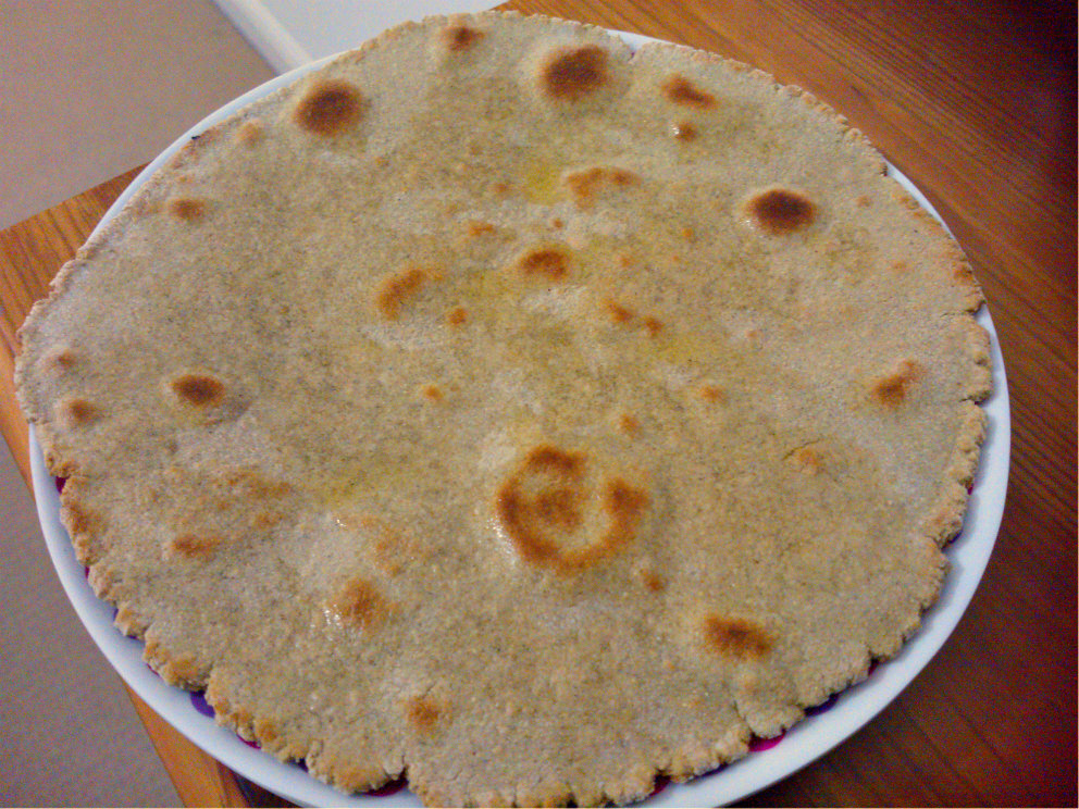 Bajra Roti/Bajra Bhakri (Millet flour flatbread)
