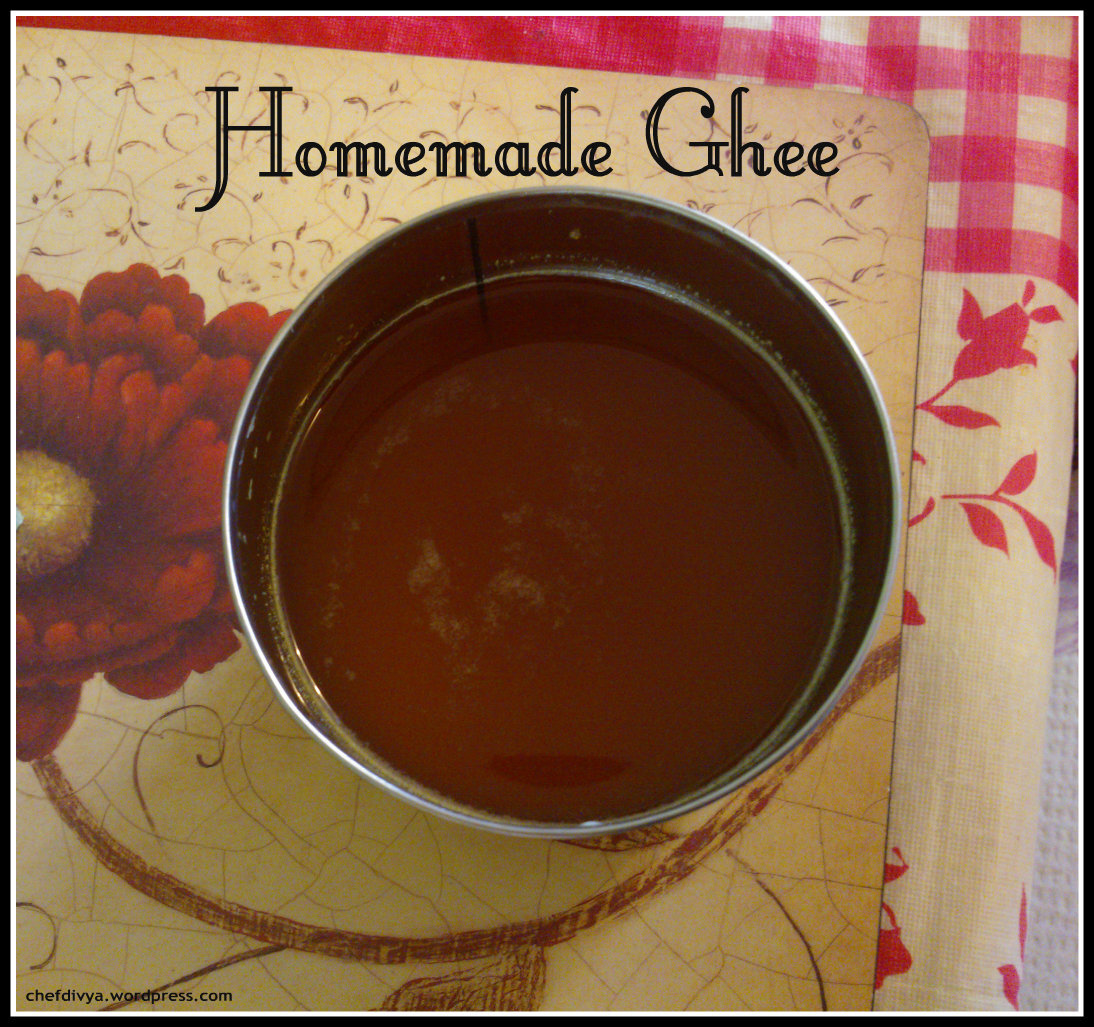 Homemade Ghee/ Indian Clarified Butter & a dessert made from it's residue