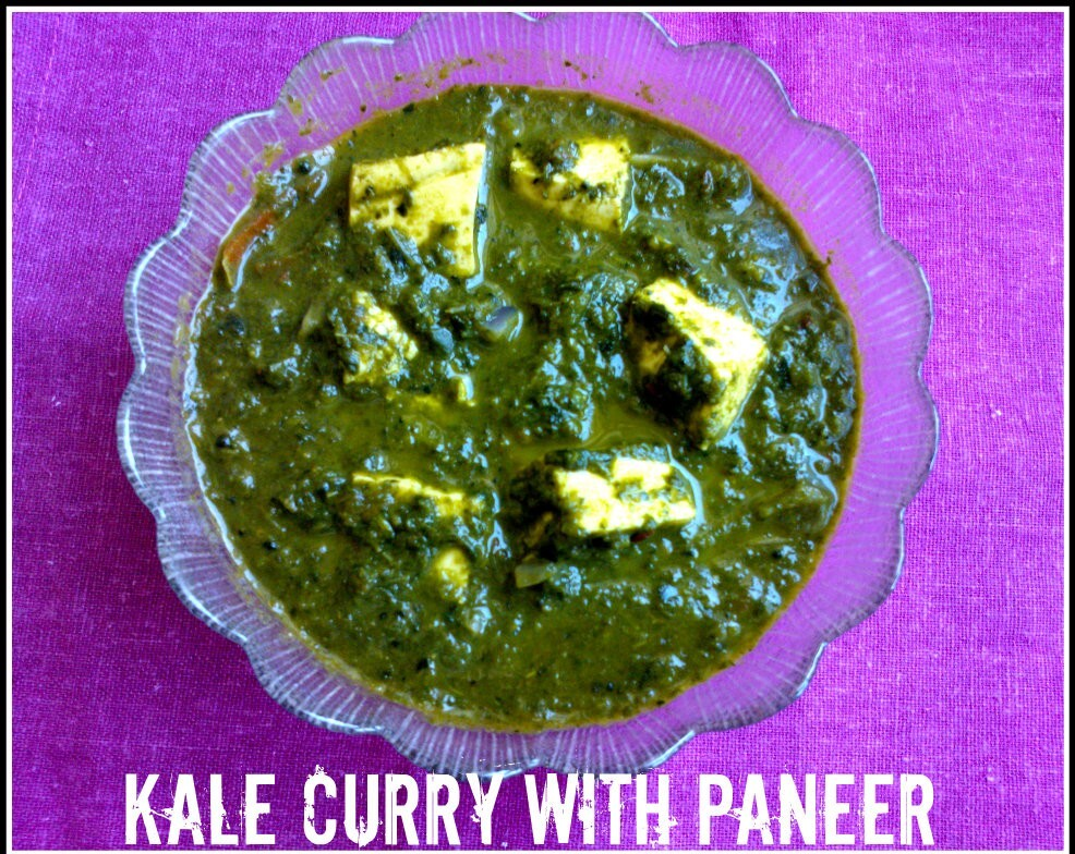 Kale curry with paneer