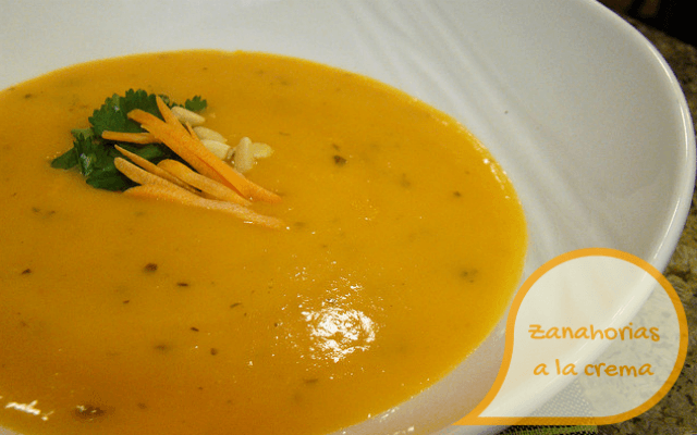 Zanahorias a la crema