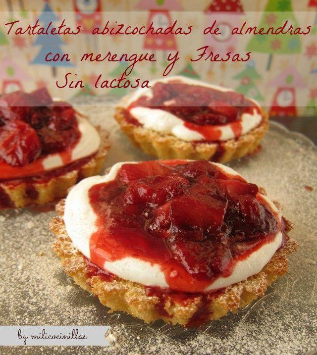 Plumcake de almendras con merengue y fresas