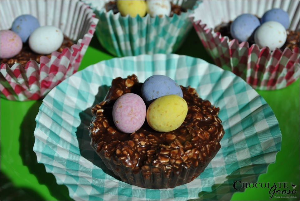 Chocolate Oaty Easter Nests